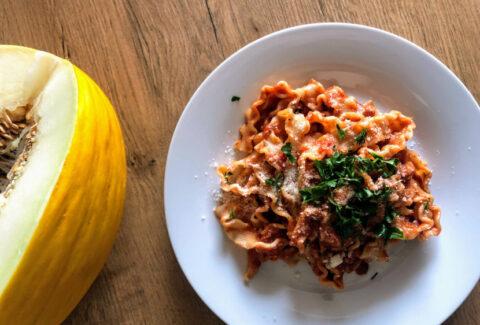Pasta mafalde al tonno w stylu włoskim, www.dietazglowa.pl, Magdalena Słota
