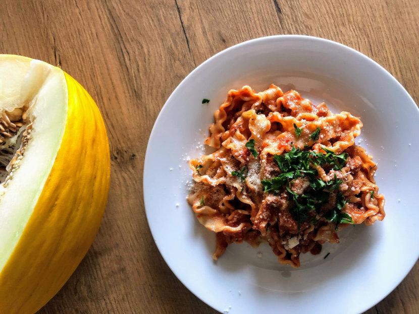 Pasta mafalde al tonno w stylu włoskim